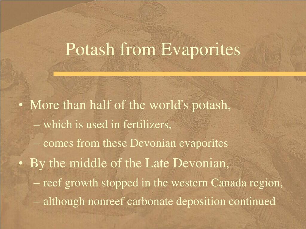 Potash from Evaporites