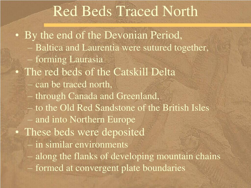 Red Beds Traced North