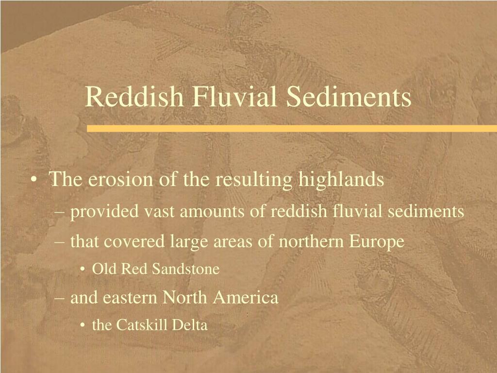 Reddish Fluvial Sediments