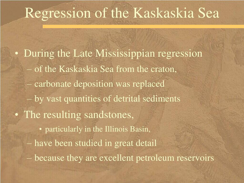 Regression of the Kaskaskia Sea