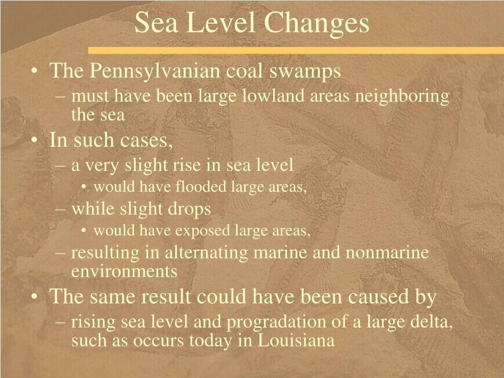 Sea Level Changes