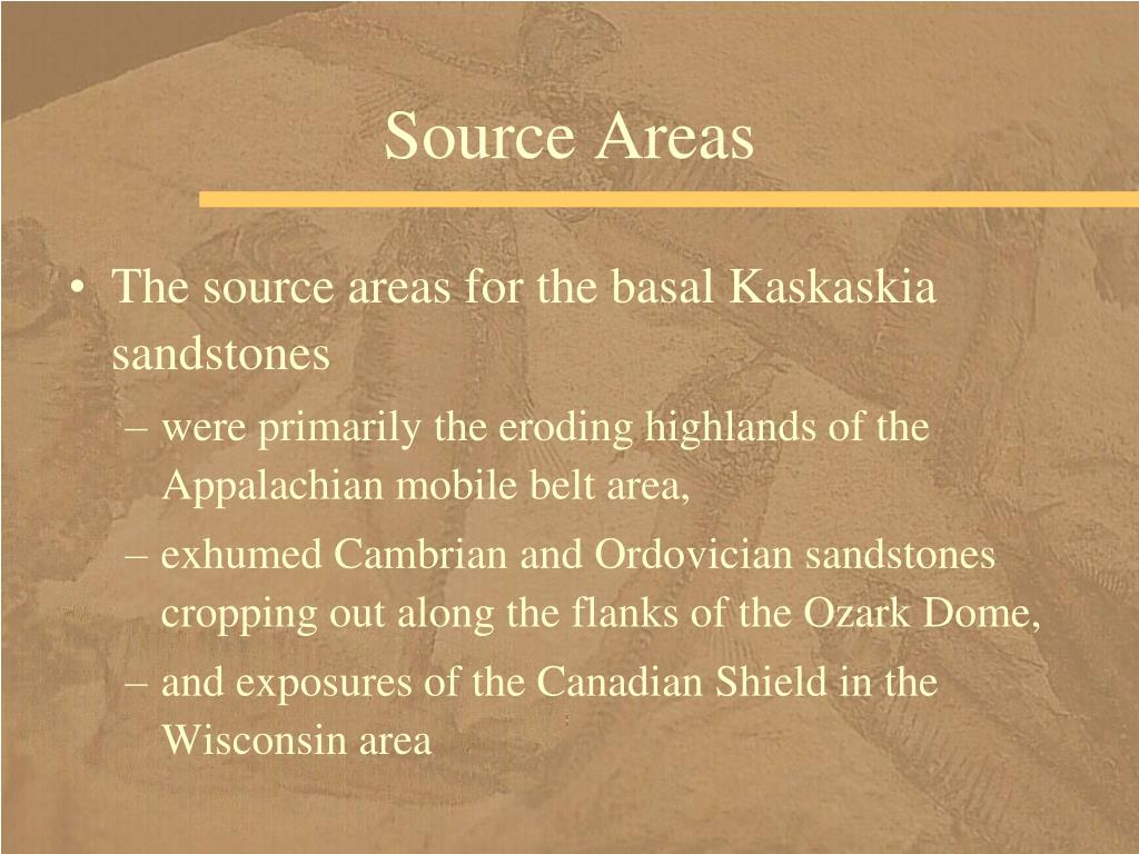 Source Areas