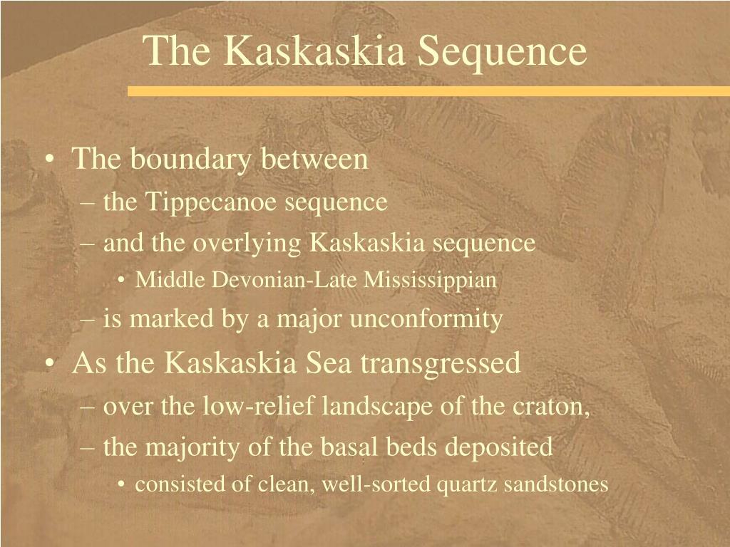 The Kaskaskia Sequence