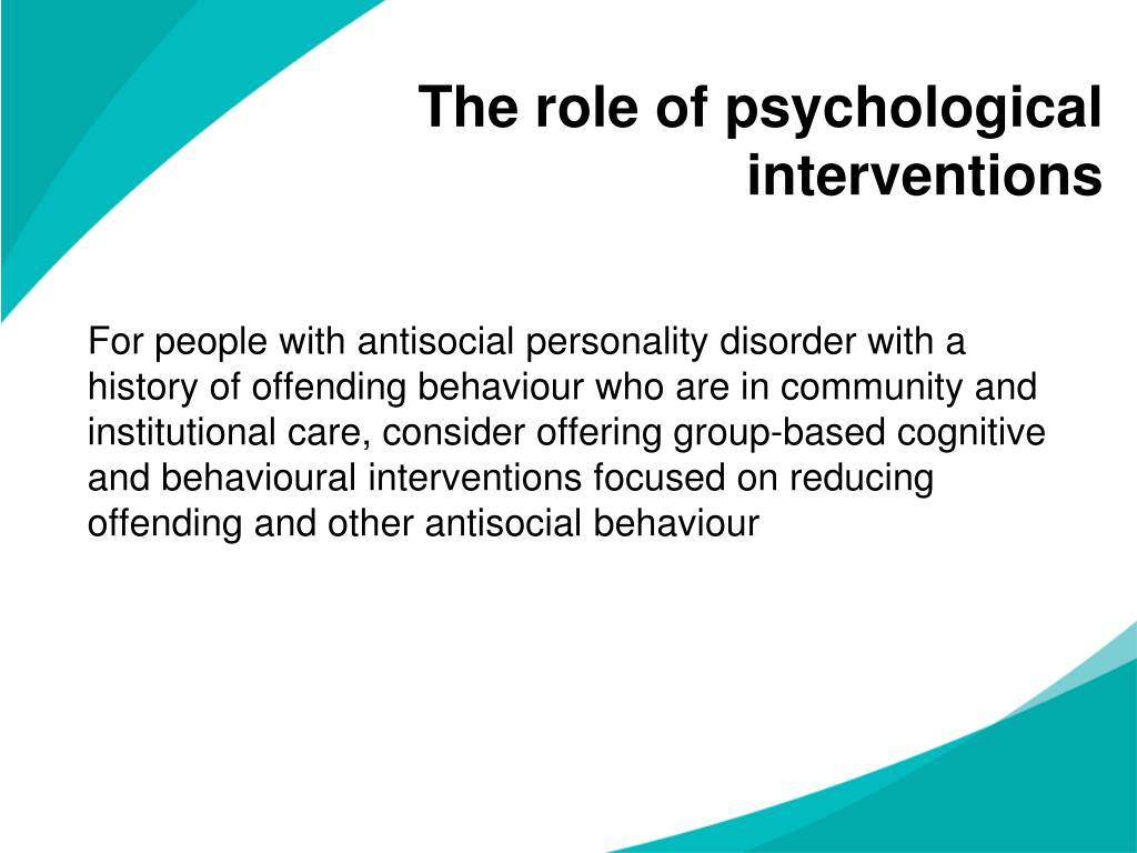 The role of psychological interventions