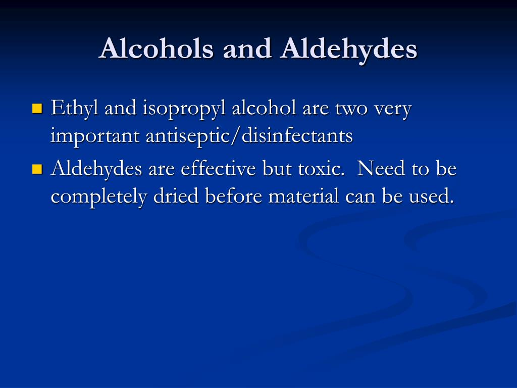 Alcohols and Aldehydes