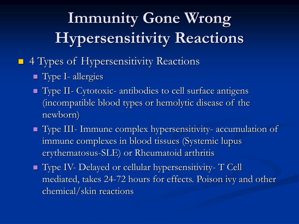 Immunity Gone Wrong