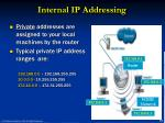 internal ip addressing