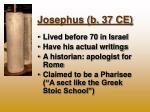 josephus b 37 ce