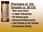 pharisees of the gospels c 80 ce