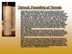 talmud founding of yavneh
