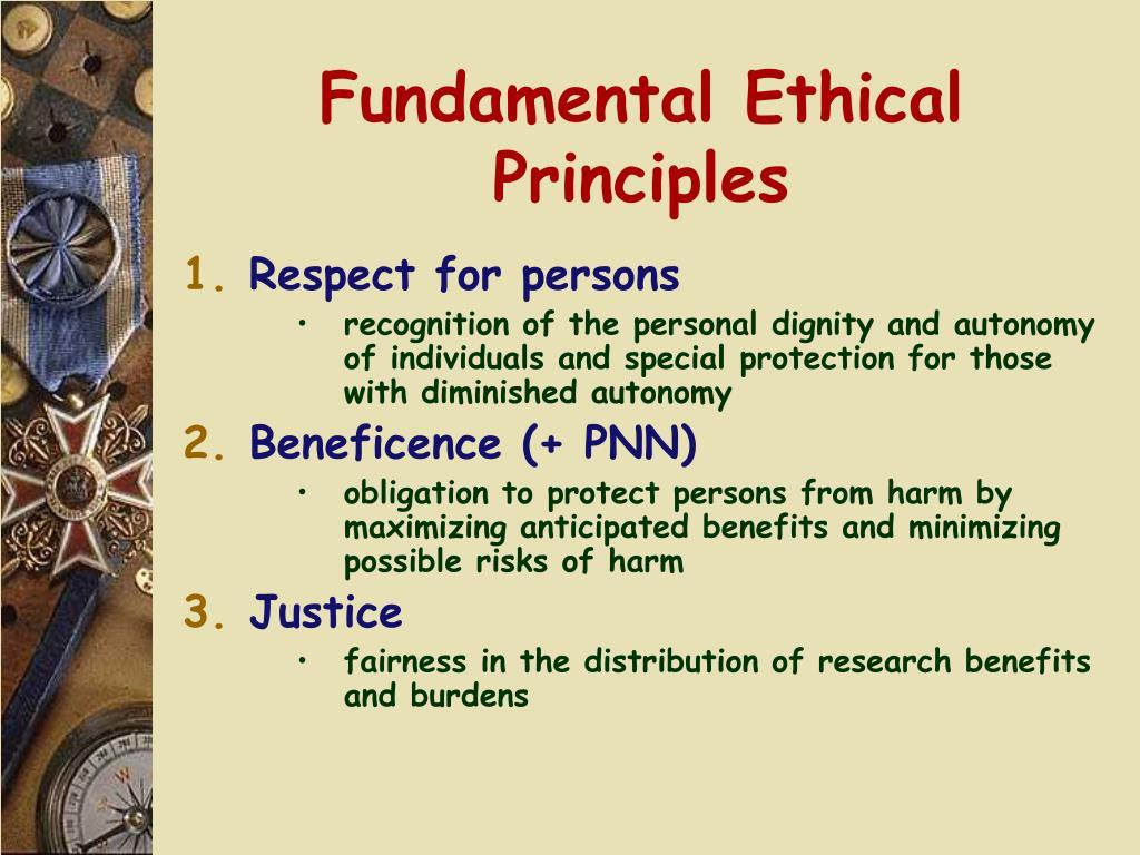 Fundamental Ethical Principles
