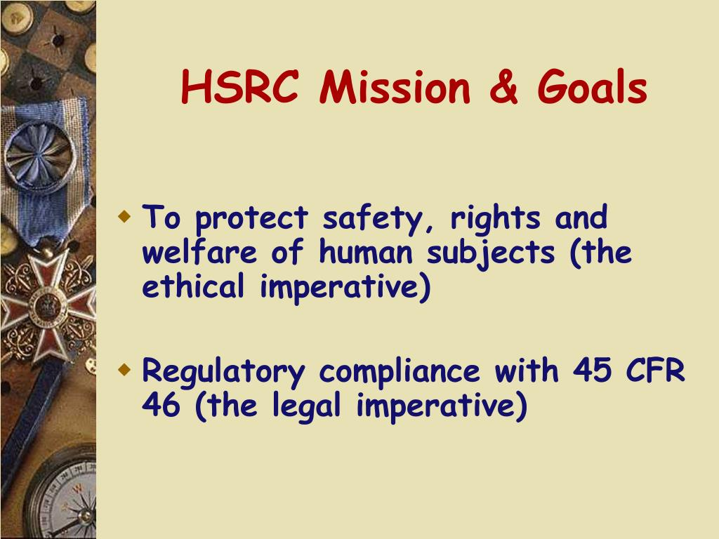 HSRC Mission & Goals