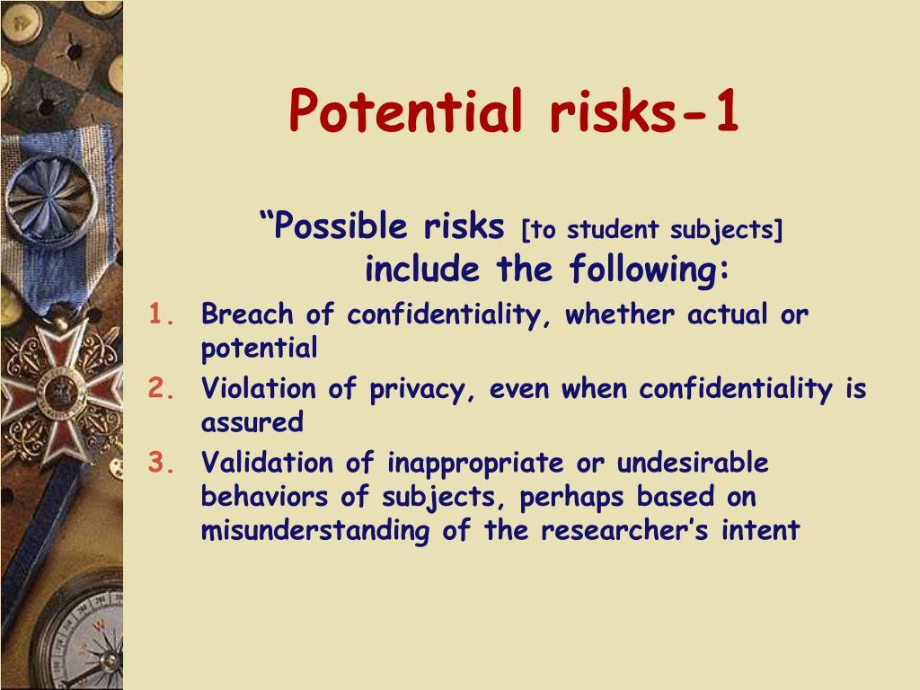 Potential risks-1