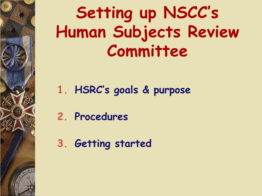Setting up NSCC's