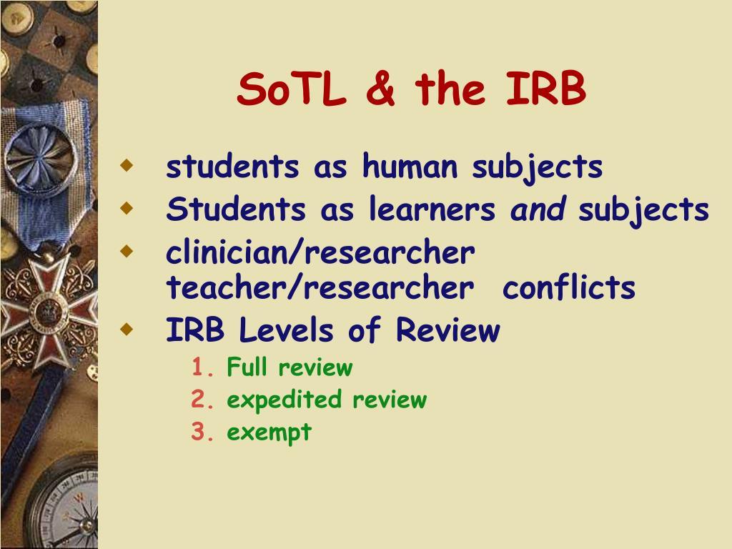 SoTL & the IRB