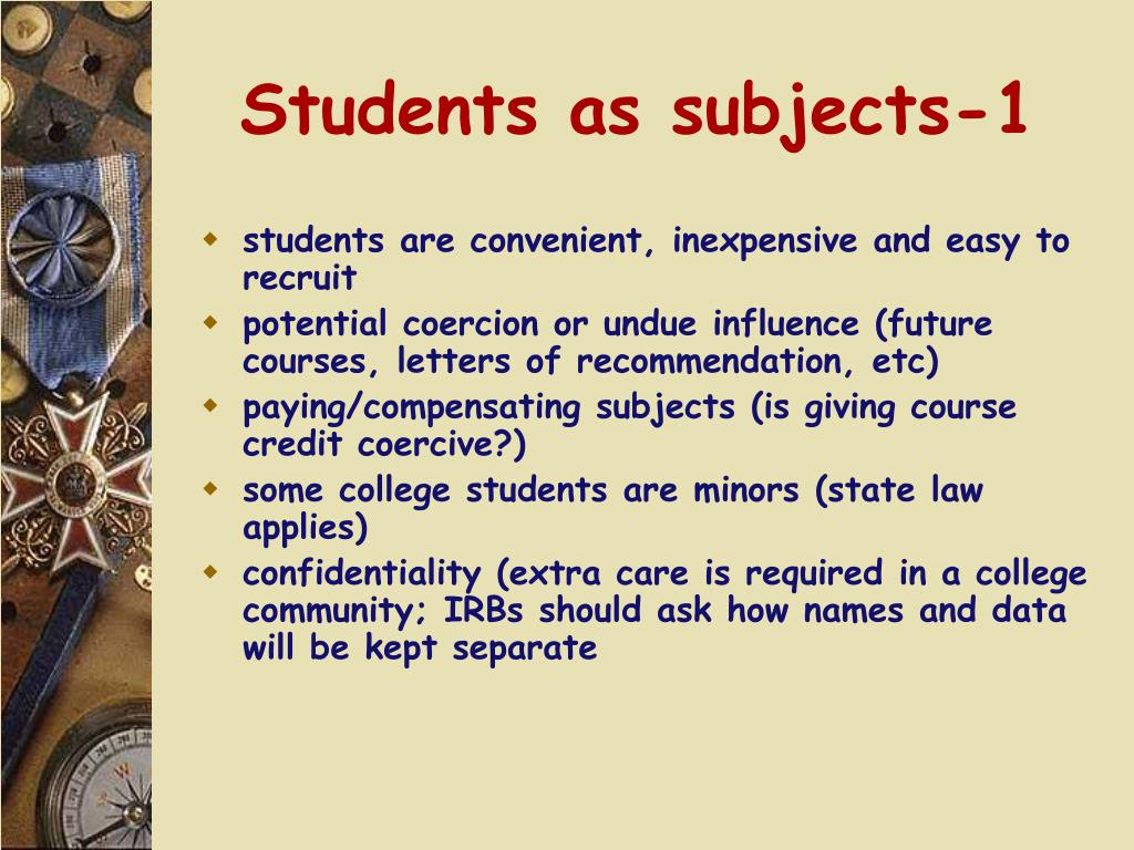 Students as subjects-1