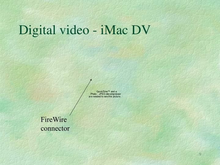 Digital video - iMac DV