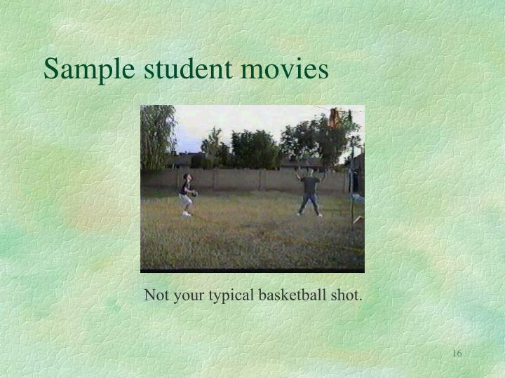 Sample student movies