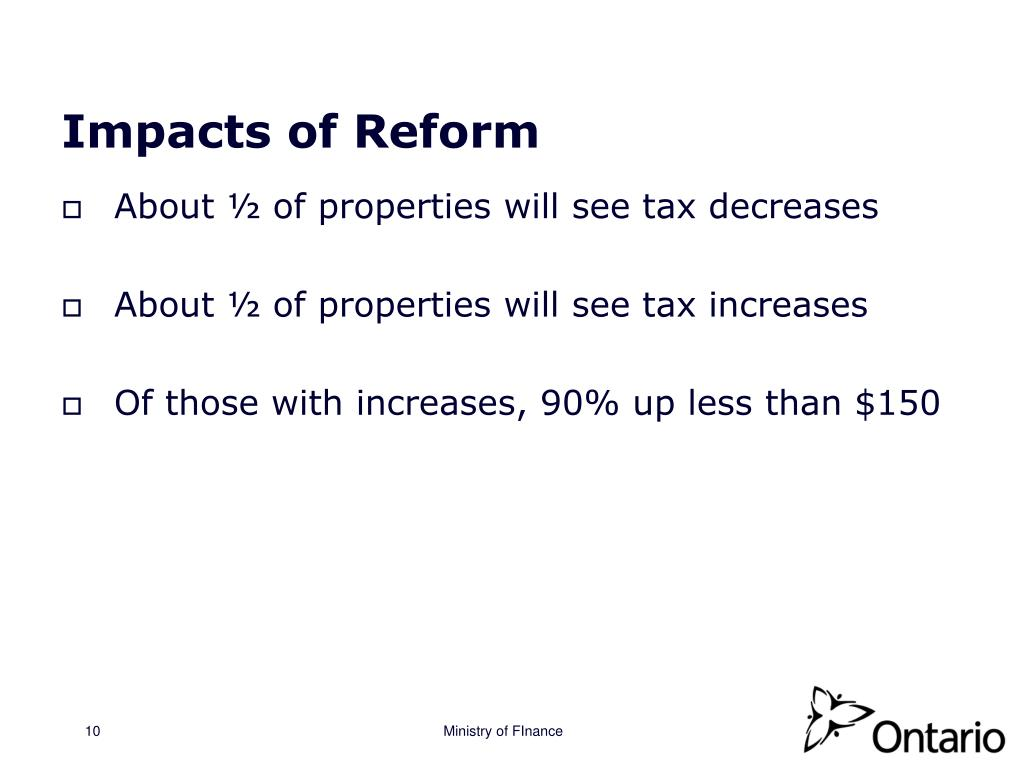 Impacts of Reform