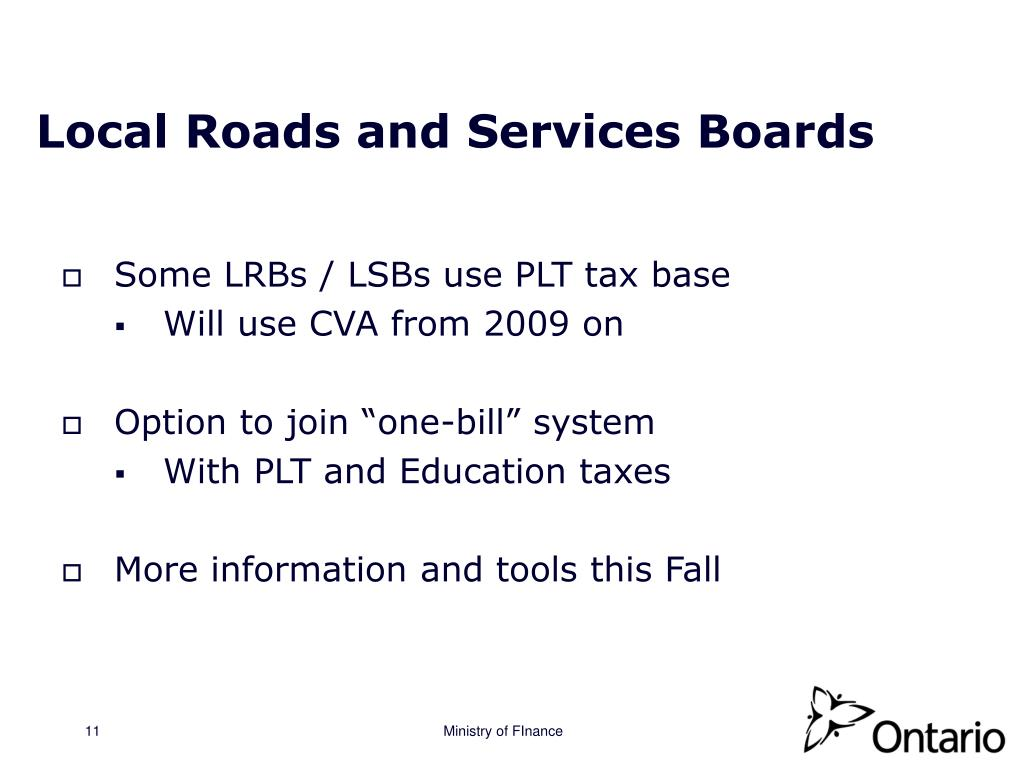 Local Roads and Services Boards