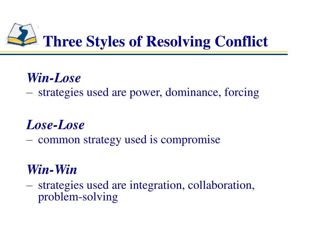 Three Styles of Resolving Conflict