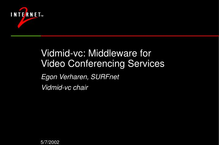 Vidmid vc middleware for video conferencing services