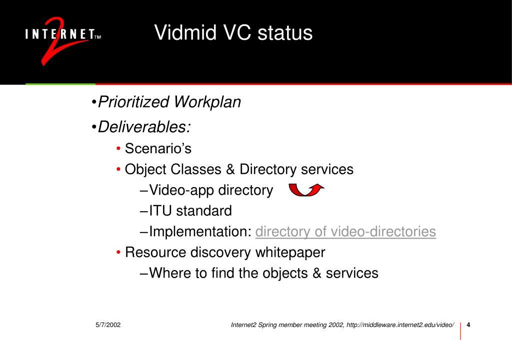 Vidmid VC status