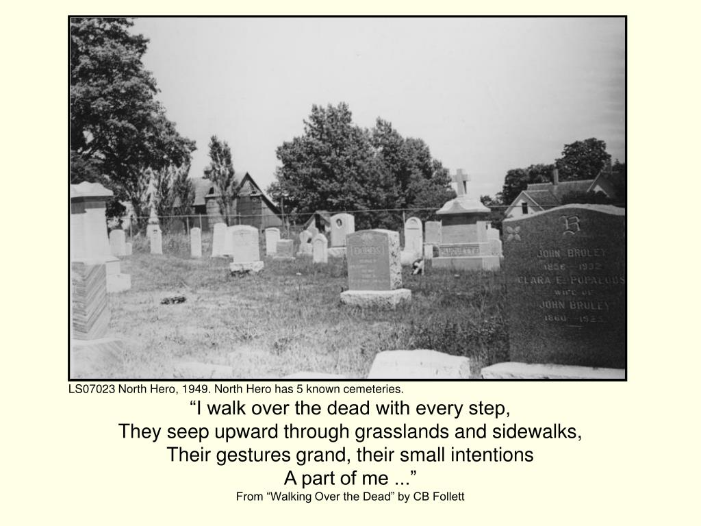 LS07023 North Hero, 1949. North Hero has 5 known cemeteries.