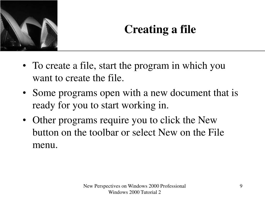 Creating a file