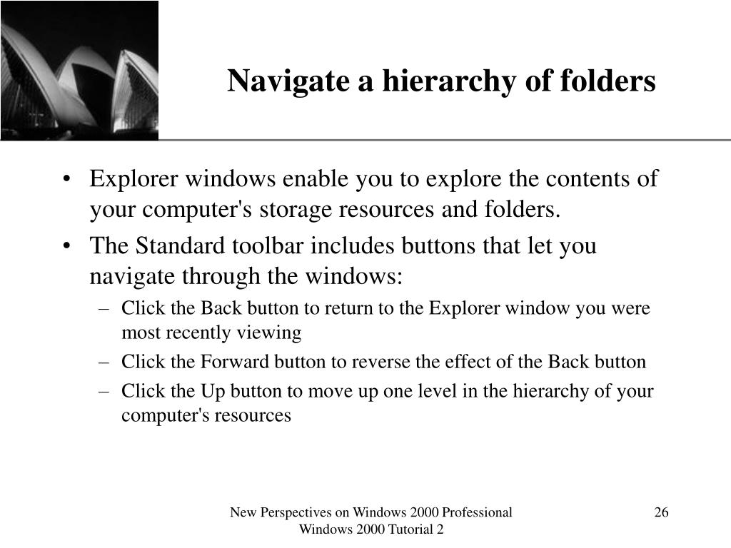 Navigate a hierarchy of folders
