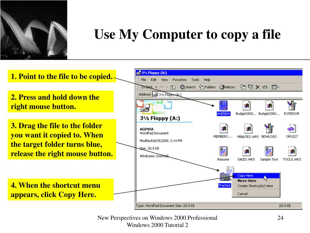 Use My Computer to copy a file
