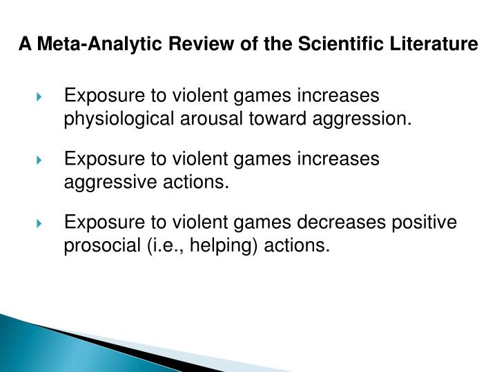 A Meta-Analytic Review of the Scientific Literature