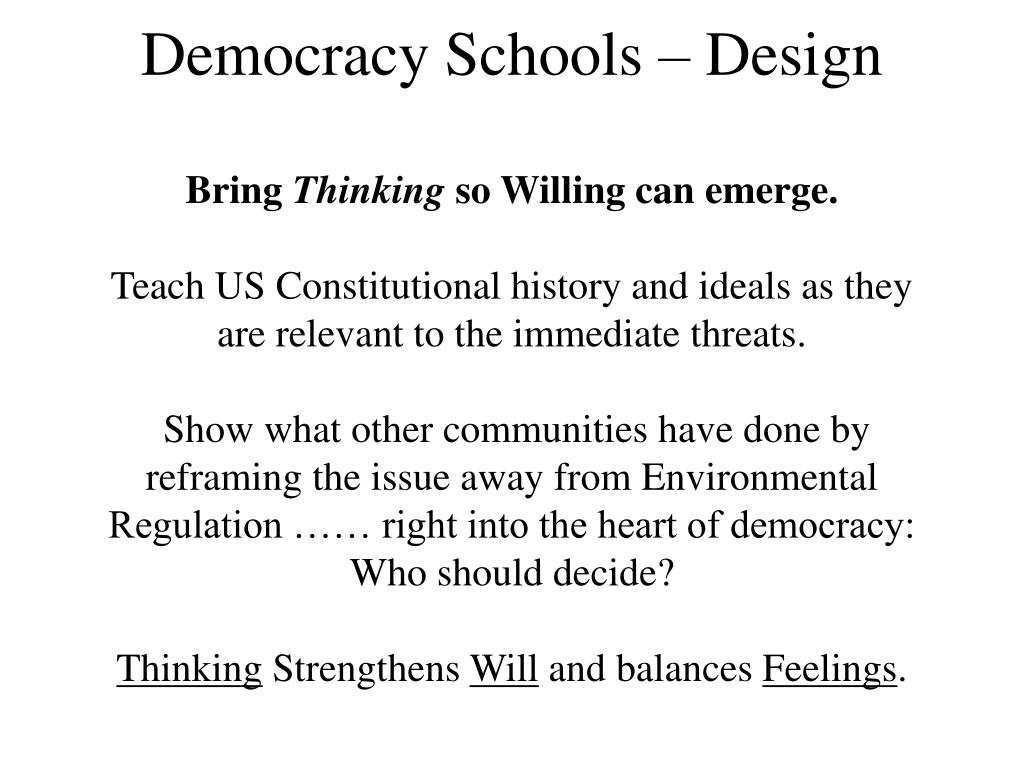 Democracy Schools – Design