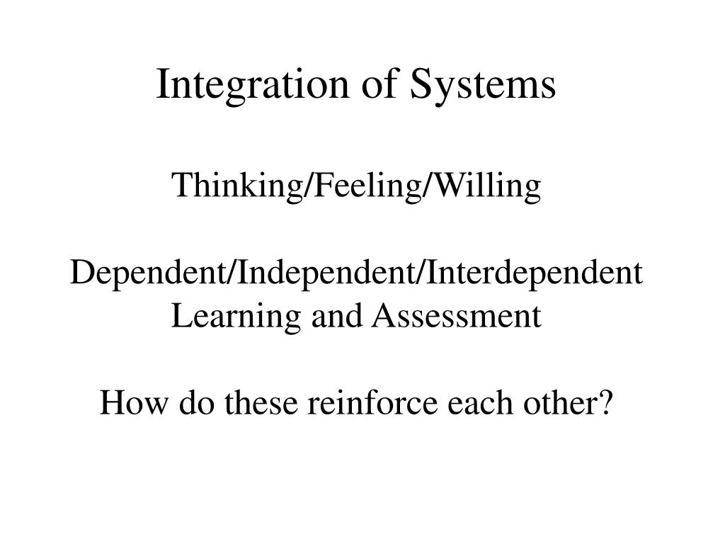 Integration of Systems