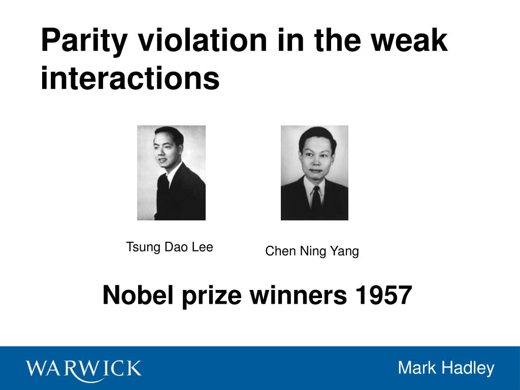 Nobel prize winners 1957