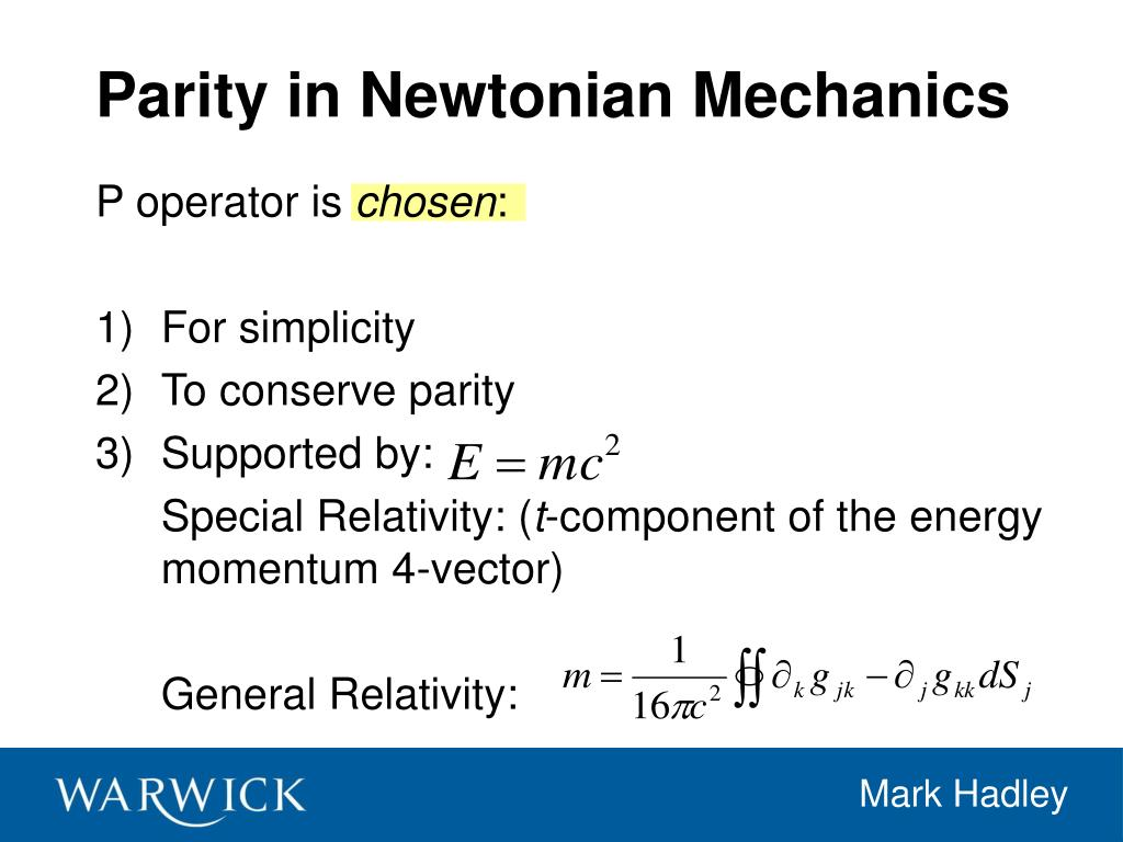 Parity in Newtonian Mechanics
