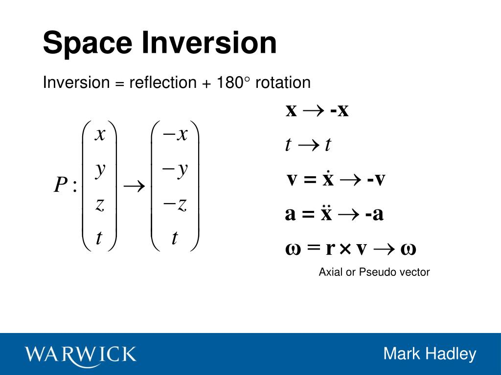 Space Inversion