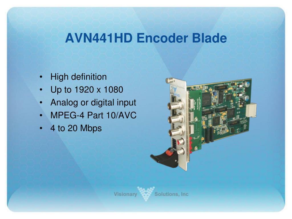 AVN441HD Encoder Blade