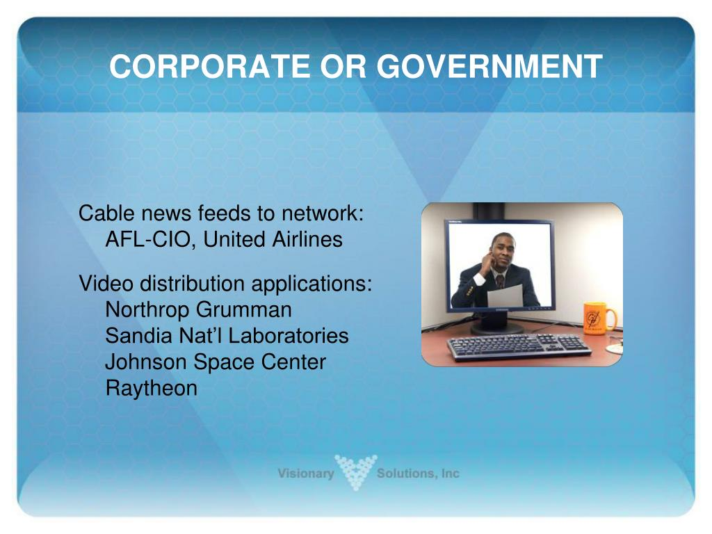 CORPORATE OR GOVERNMENT