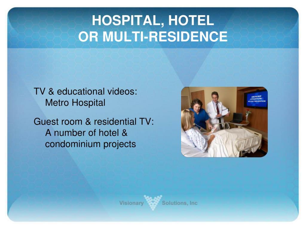 HOSPITAL, HOTEL