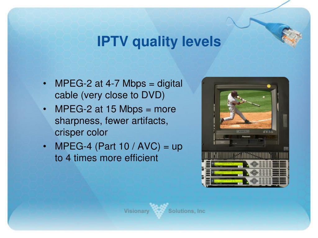 IPTV quality levels