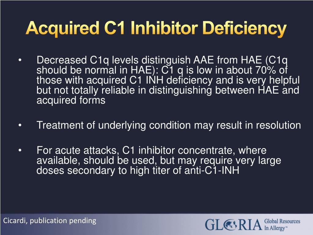 Acquired C1 Inhibitor Deficiency