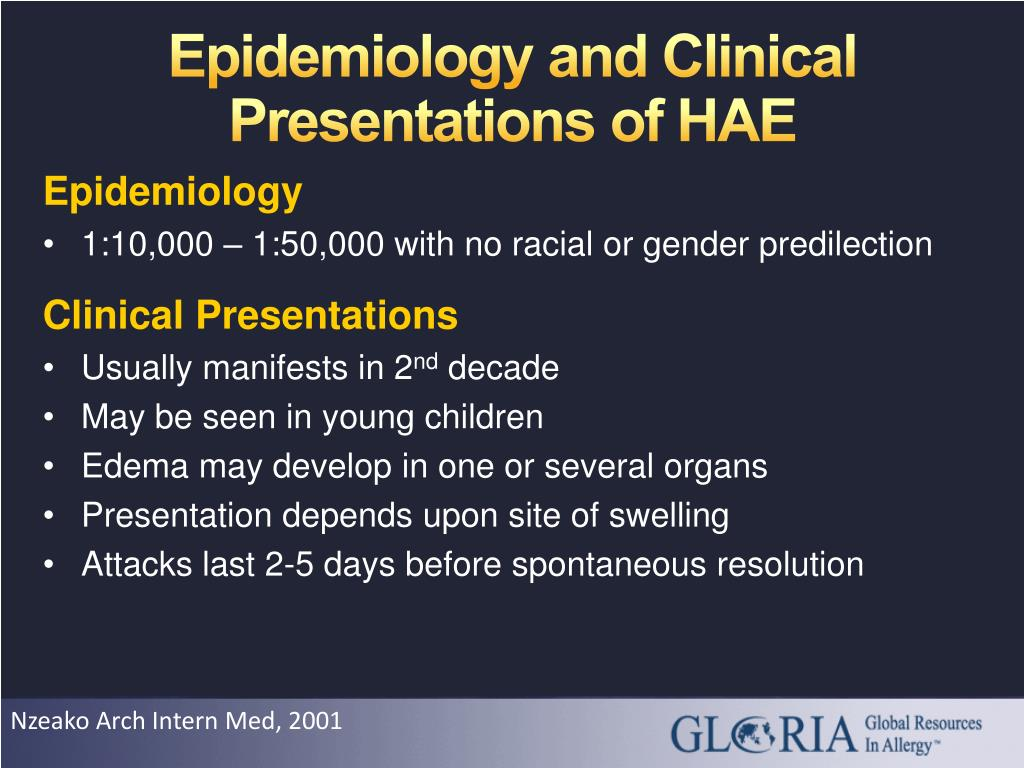 Epidemiology and Clinical Presentations of HAE