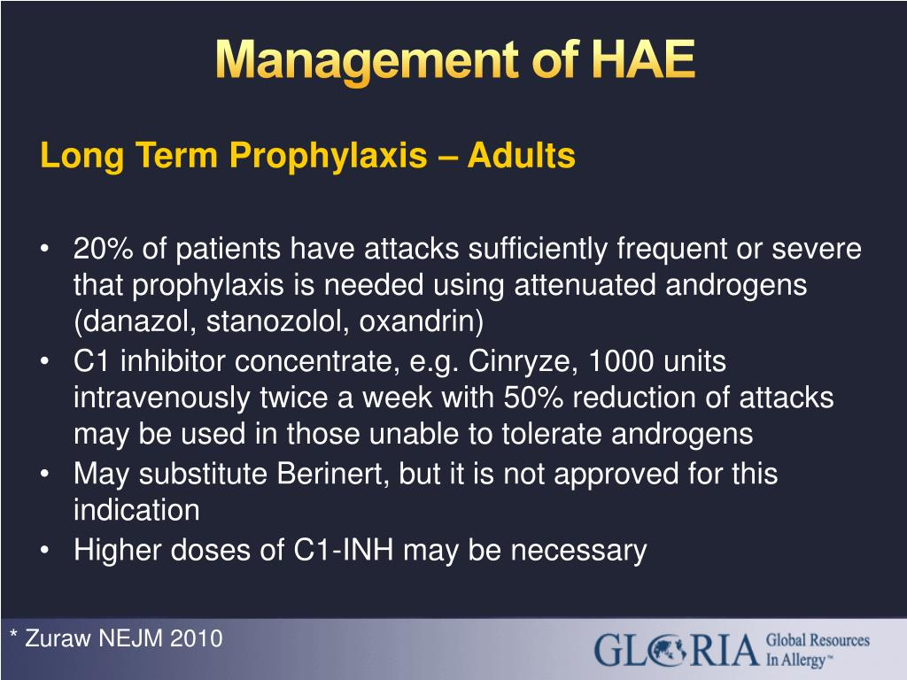 Management of HAE
