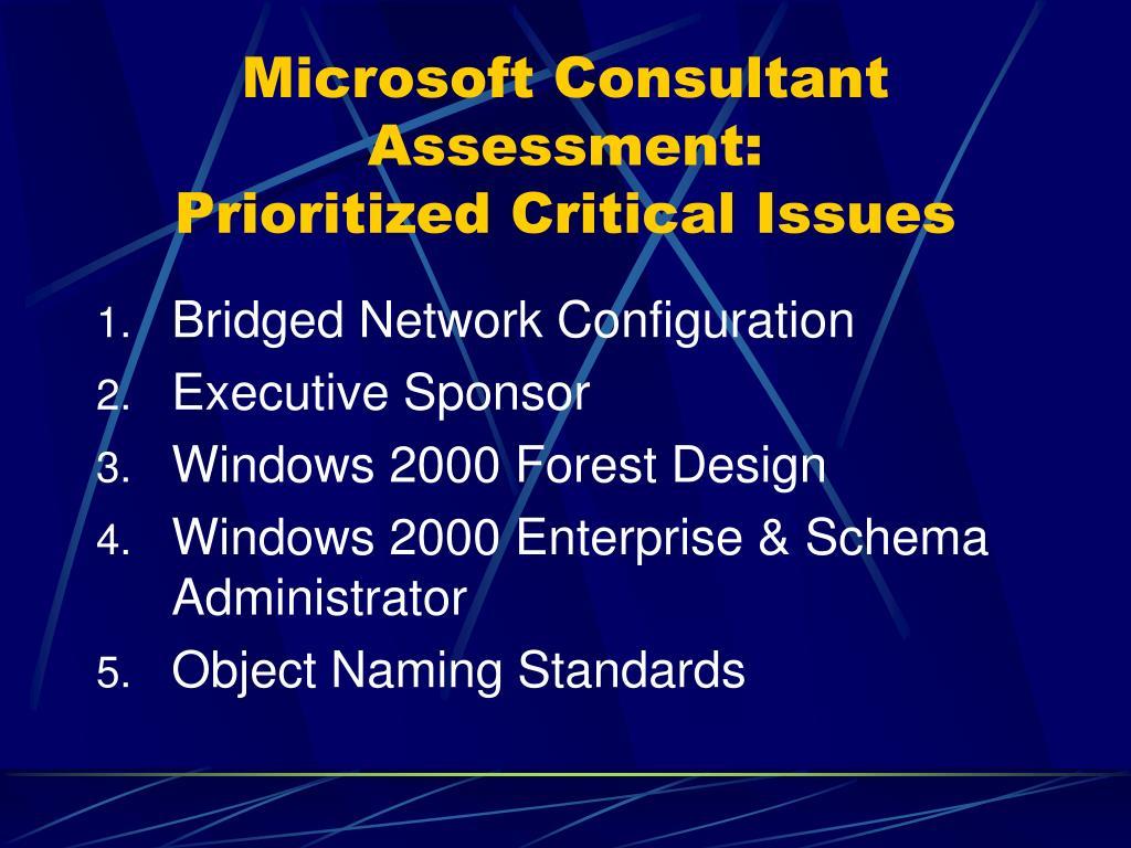 Microsoft Consultant Assessment: