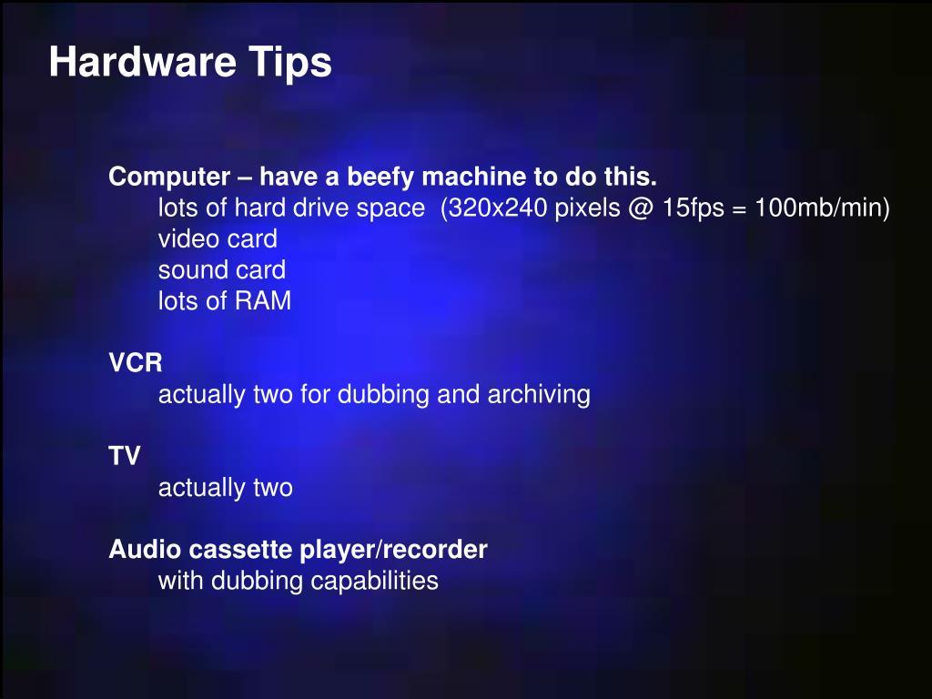 Hardware Tips