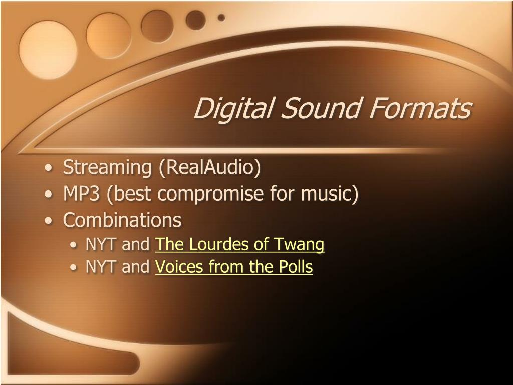 Digital Sound Formats