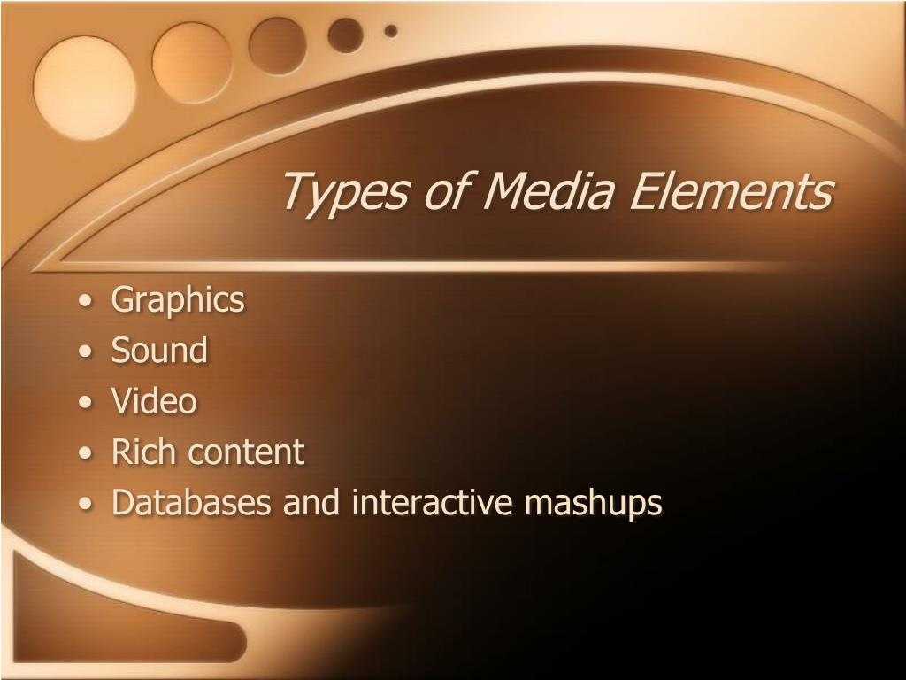 Types of Media Elements