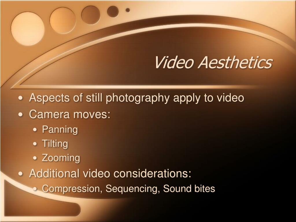 Video Aesthetics