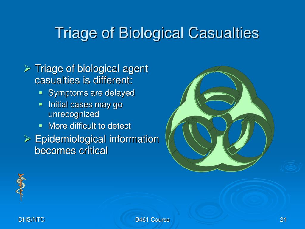Triage of Biological Casualties